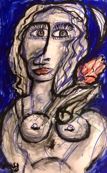 Peinture Abstrait, pastel, abstrait, œuvre d'art par Serge Berry